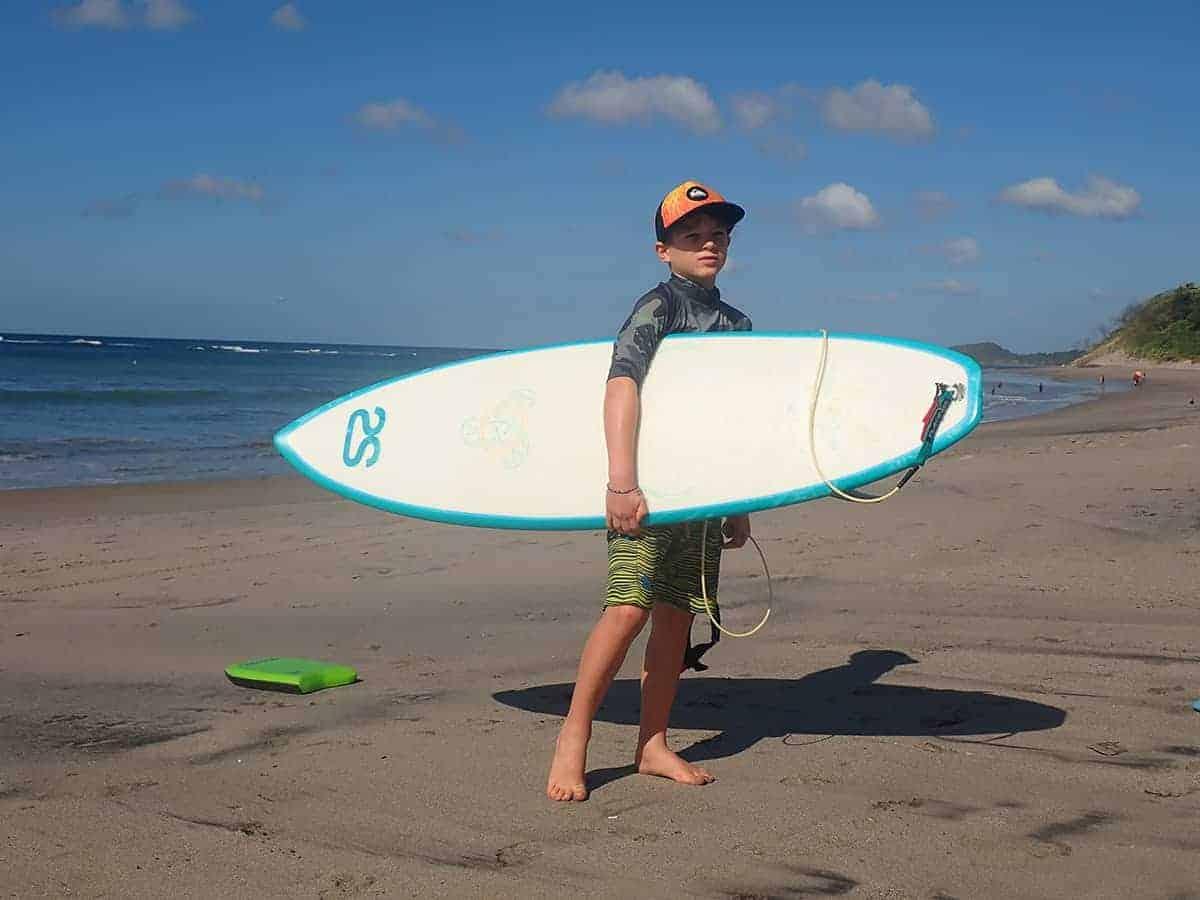 Leo Surfboard, Magnific Rock, Malibu Popoyo, Nicaragua, Surfboards UK, Family Surf Co