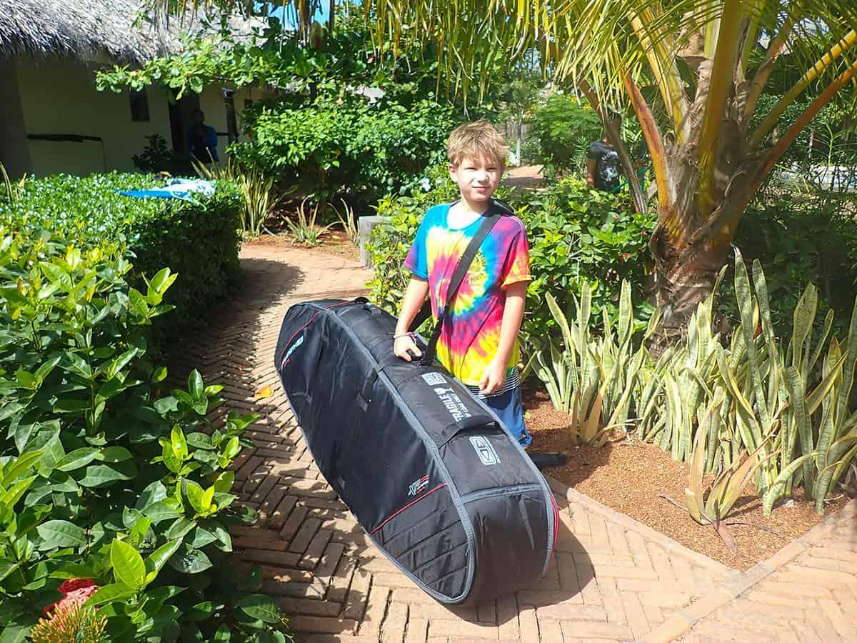 Ocean & Earth Surfboard bag, Playa Santana, Malibu Popoyo, Nicaragua, EcoBoard, Surfboards UK, Family Surf Co