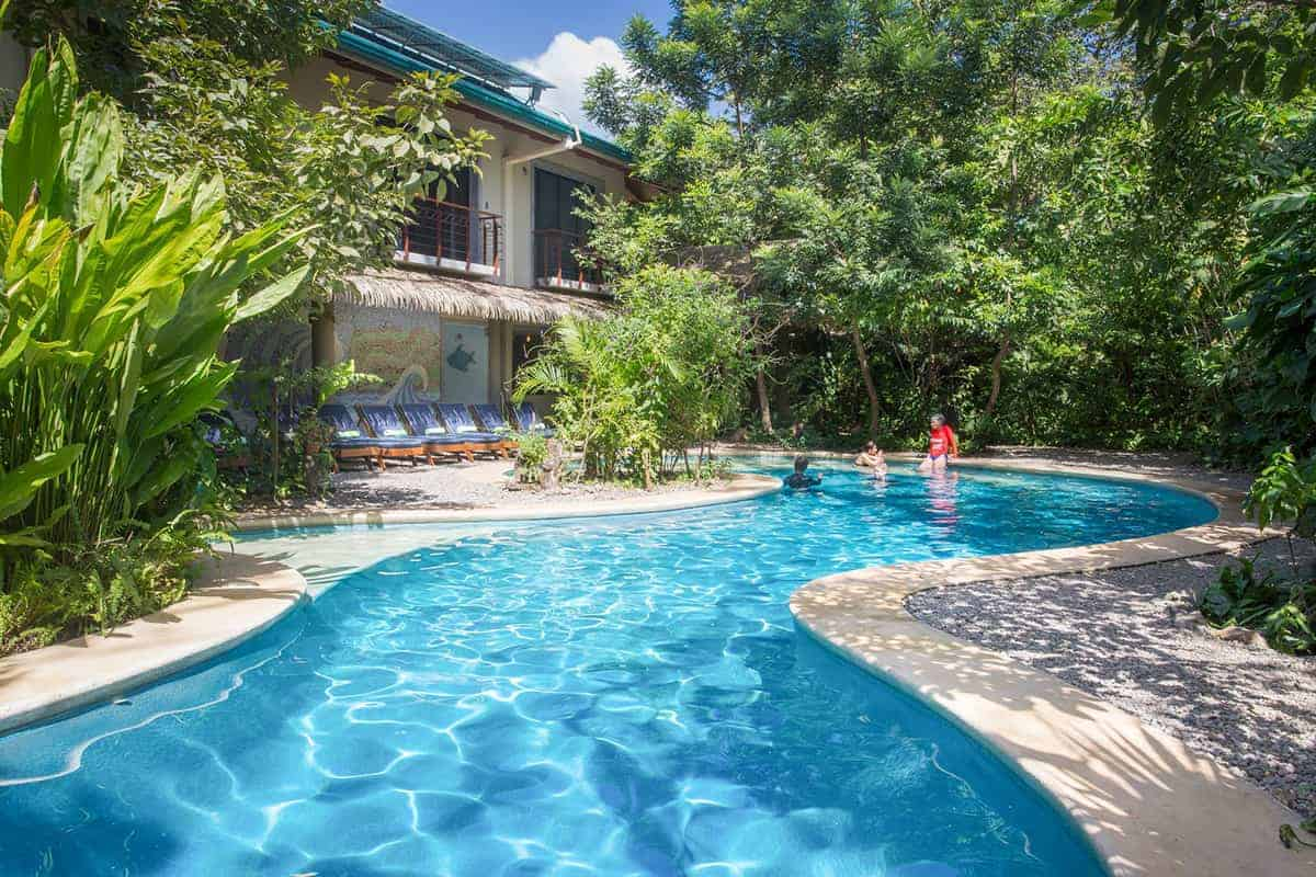 Swimming pool, Olas Verdes Hotel, Playa Guiones, Nosara, Costa Rica