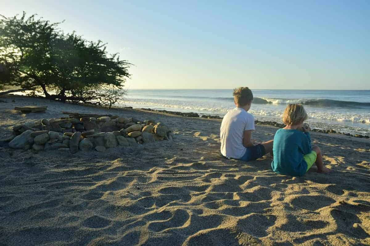 Coffee on the beach, Santana, Nicaragua, Malibu Popoyo, Family Surf Co