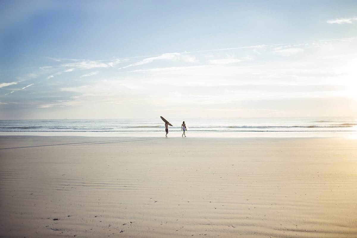 A Time to Dream, Beach and surfing couple