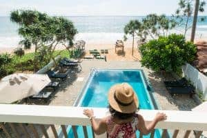 Sea View, beach , pool, At Ease Hotel, Hikkaduwa, Sri Lanka, Family Surf Co