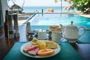 Breakfast, At Ease Hotel, Hikkaduwa, Sri Lanka, Family Surf Co
