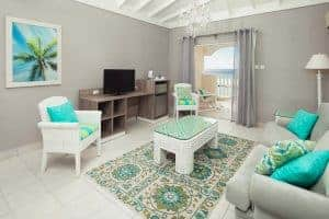 Oceanfront suite, Sugar Bay, Christchurch, Barbados, Luxury family beach hotel, Family Surf Co