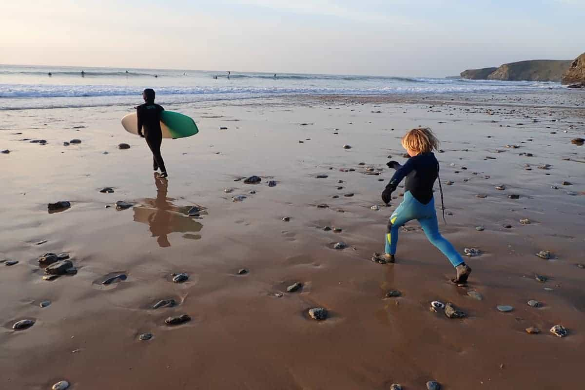 Winter surfing, Cornwall,Family Surf Co.