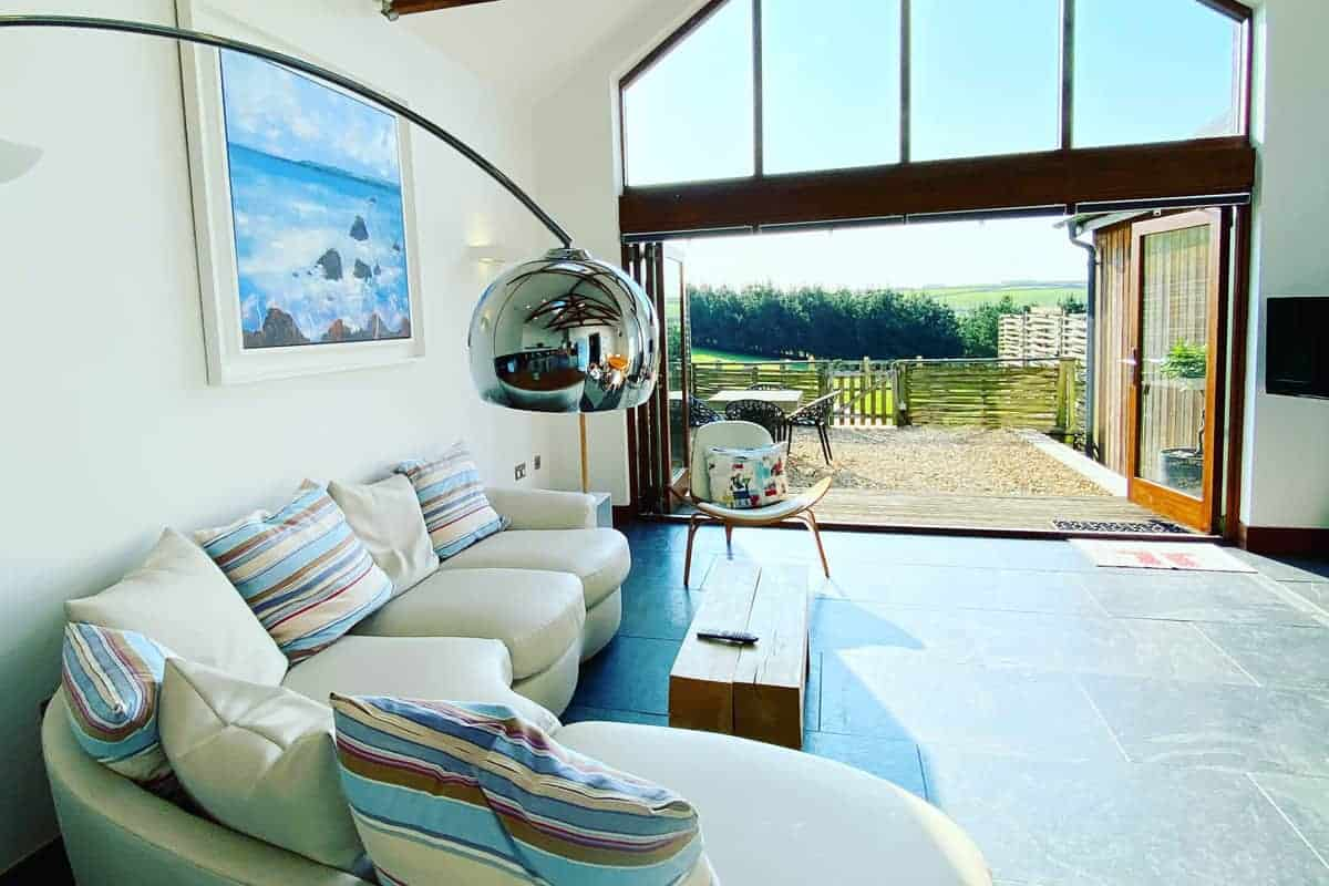 Eco-lounge, Merlin Farm, self-catering cottages, family surfing holiday, Cornwall, Family Surf Co