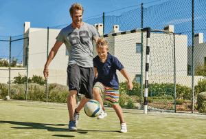 Martinhal Cascais, Lisbon, football, Family Surfing Holiday, Portugal, Family Surf Co
